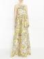 Платье-макси из шелка с цветочным узором MSGM  –  Модель Верх-Низ