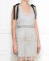 Платье-мини с узором и декоративными бантами Self-Portrait  –  МодельВерхНиз