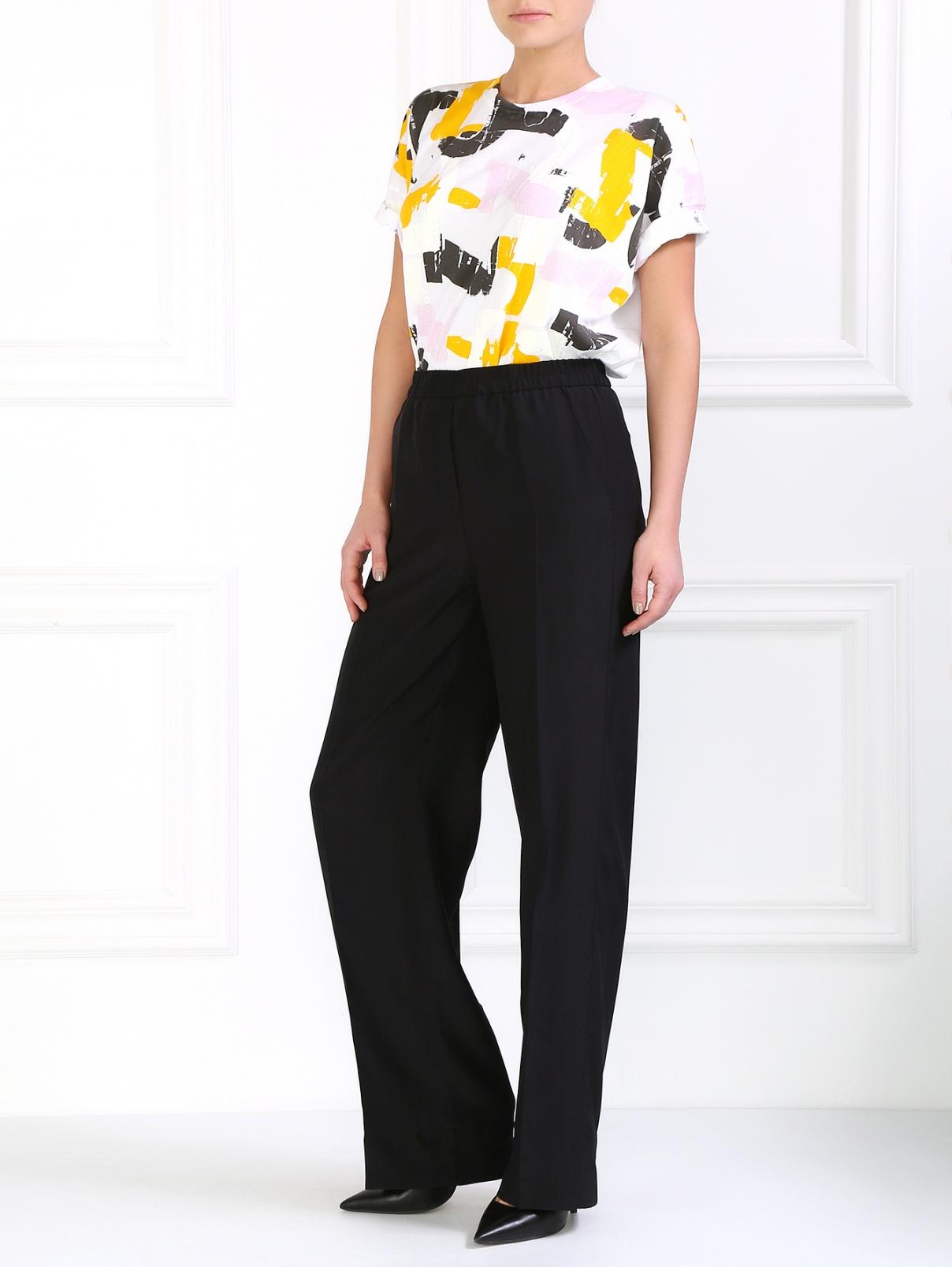 Шелковые брюки свободного кроя Jil Sander  –  Модель Общий вид