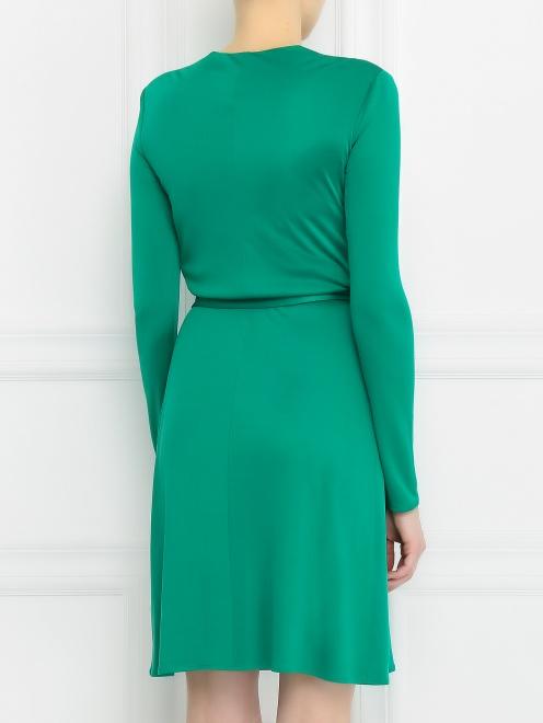 Платье-мини из шелка с драпировкой  - Модель Верх-Низ1