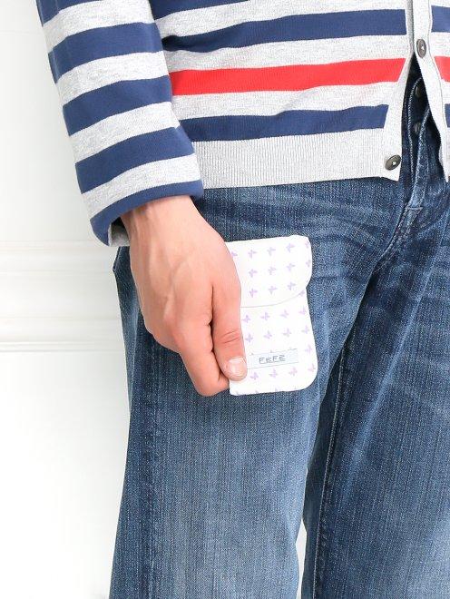 Чехол для IPhone из шелка с узором - Общий вид