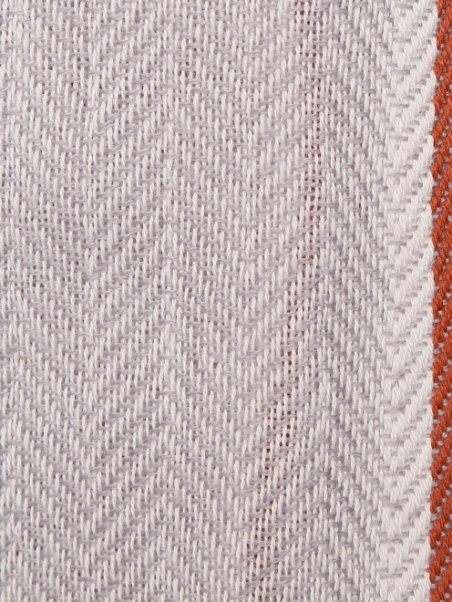 Шарф из шерсти и кашемира с узором и бахромой  - Деталь1