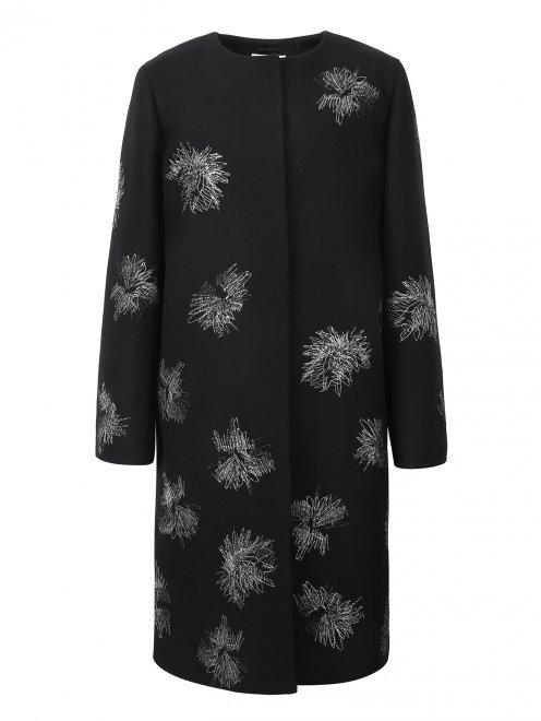 Пальто декорированное вышивкой - Общий вид