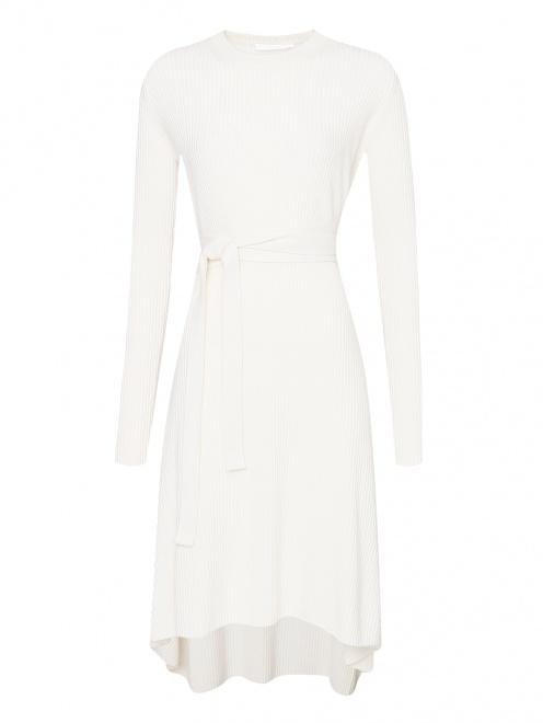 Платье из шерсти и кашемира с поясом  - Общий вид