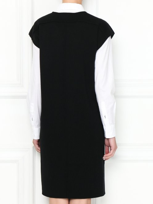 Платье из смешанной шерсти с аппликацией - МодельВерхНиз1