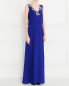 Платье-макси из шелка с аппликацией из пайеток Pianoforte  –  Модель Верх-Низ