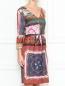 Платье-миди с узором Moschino Boutique  –  МодельВерхНиз