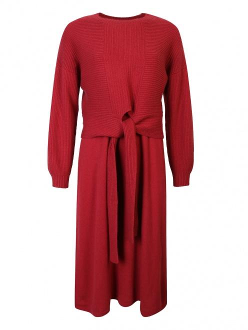 Костюм из платья и джемпера из смесовой шерсти - Общий вид