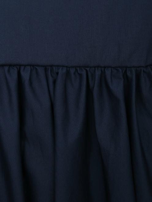 Платье из хлопка с расклешенной юбкой и вышивкой - Деталь1