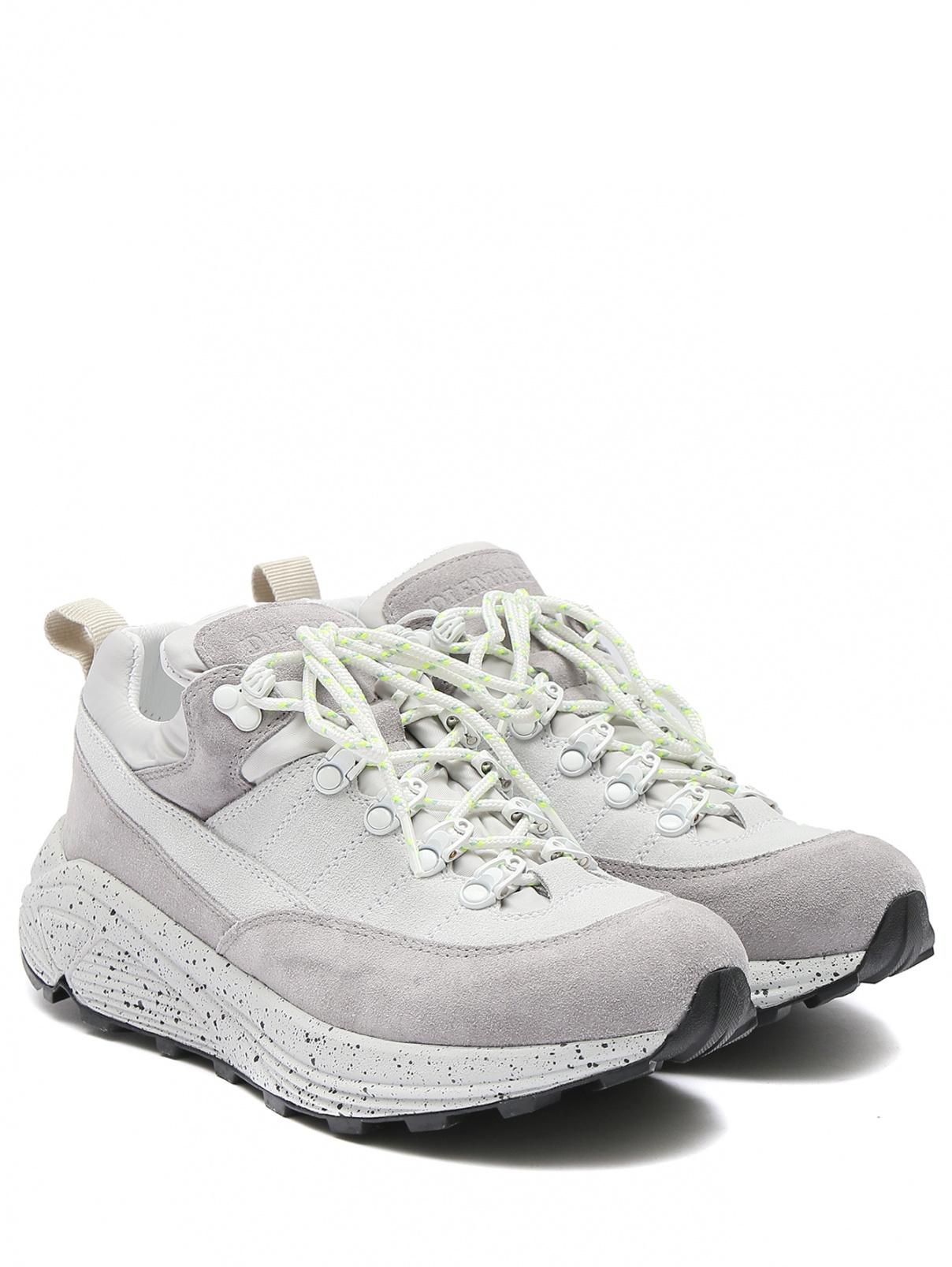 Кроссовки из замши на шнурках Diemme  –  Общий вид  – Цвет:  Серый