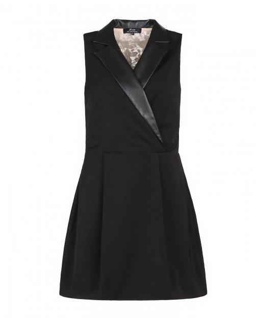 Платье-мини с кружевной вставкой на спине - Общий вид