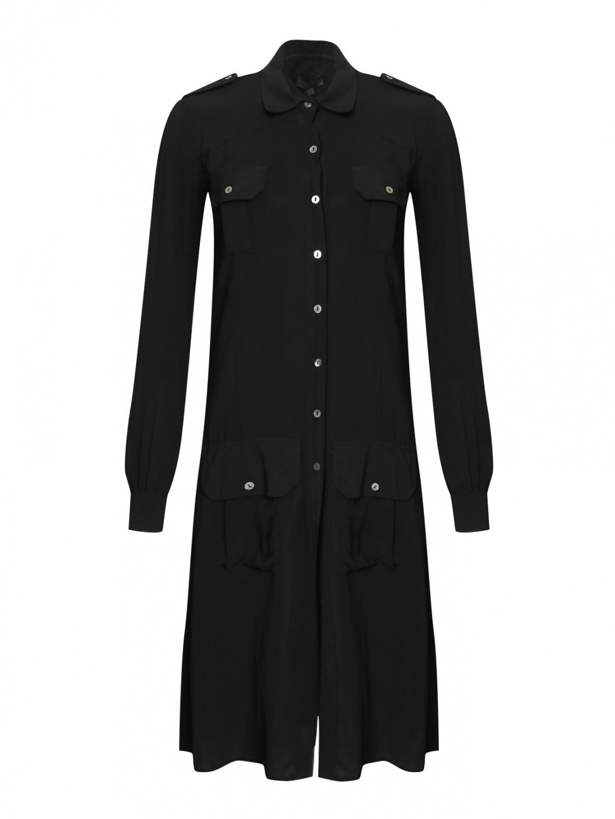 Платье из вискозы на пуговицах Vintage 55  –  Общий вид