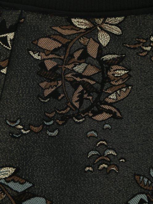 Юбка-макси с узором и контрастной отделкой - Деталь