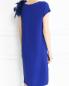 Платье прямого кроя декорированное перьями Yves Salomon  –  Модель Верх-Низ1
