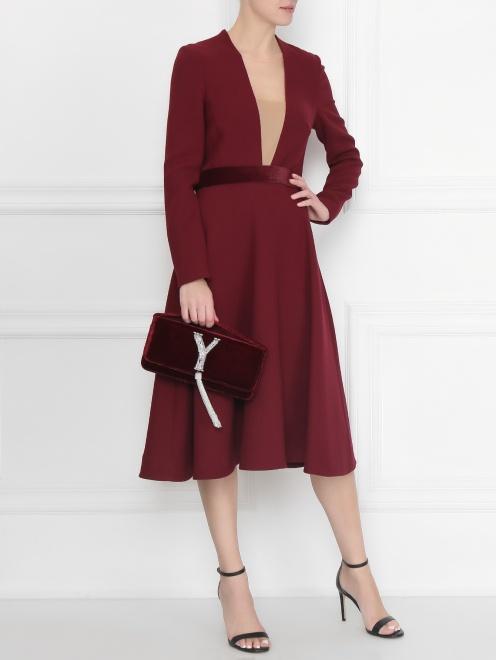 Платье приталенное, из шерсти - Общий вид