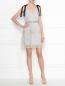 Платье-мини с узором и декоративными бантами Self-Portrait  –  МодельОбщийВид