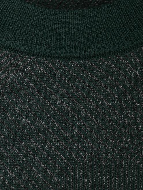 Джемпер из шерсти с круглым вырезом  - Деталь