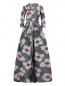 Платье-макси с цветочным узором Carolina Herrera  –  Общий вид