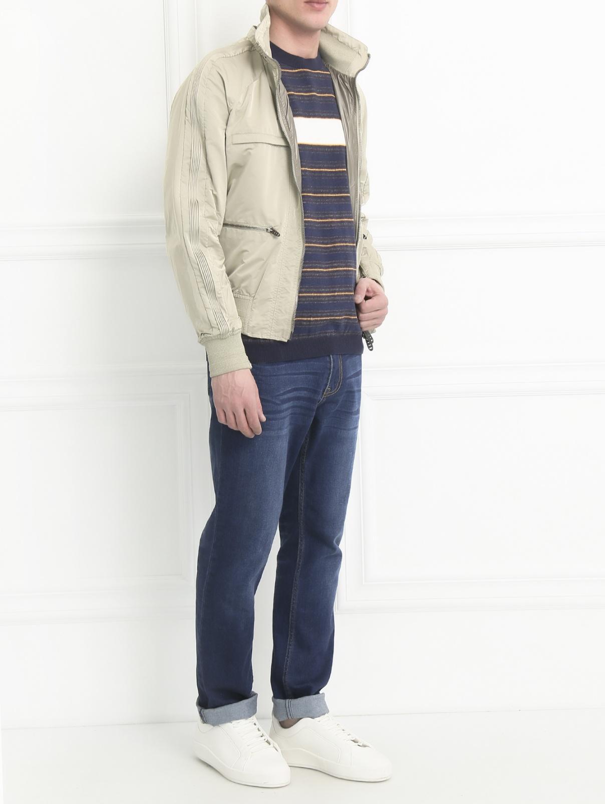 Куртка на молнии Ermanno Scervino  –  Модель Общий вид  – Цвет:  Бежевый