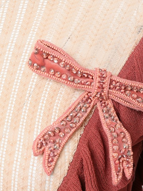 Платье трикотажное из вискозы - Деталь