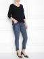 Джинсы-скинни из плотного эластичного денима Ashley Graham x Marina Rinaldi  –  МодельОбщийВид
