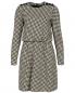 Трикотажное платье-миди из хлопка с узором Emporio Armani  –  Общий вид