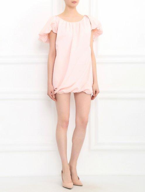 Платье-мини из хлопка - Общий вид