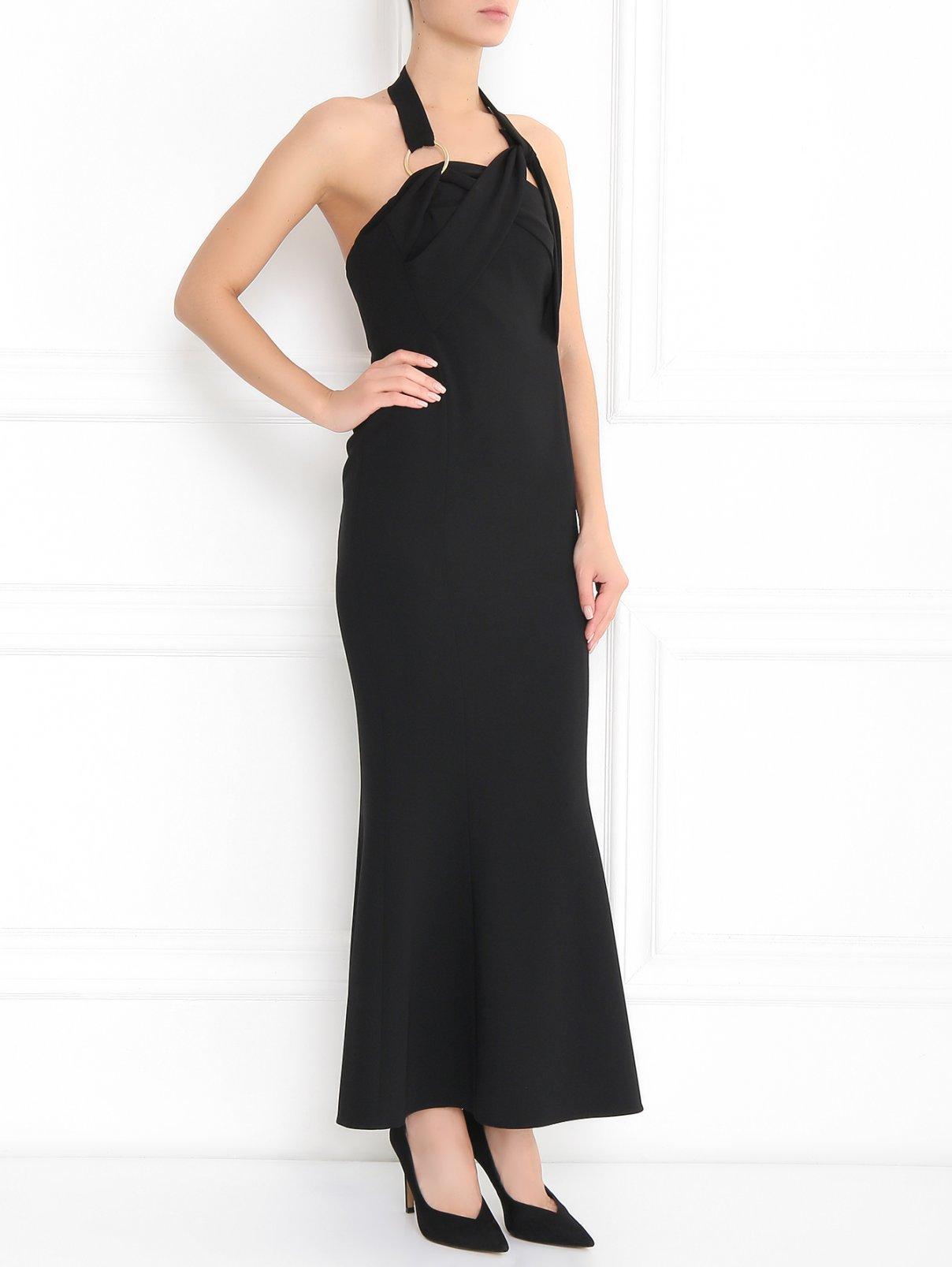 Платье-футляр на бретелях Diane von Furstenberg  –  Модель Общий вид  – Цвет:  Черный