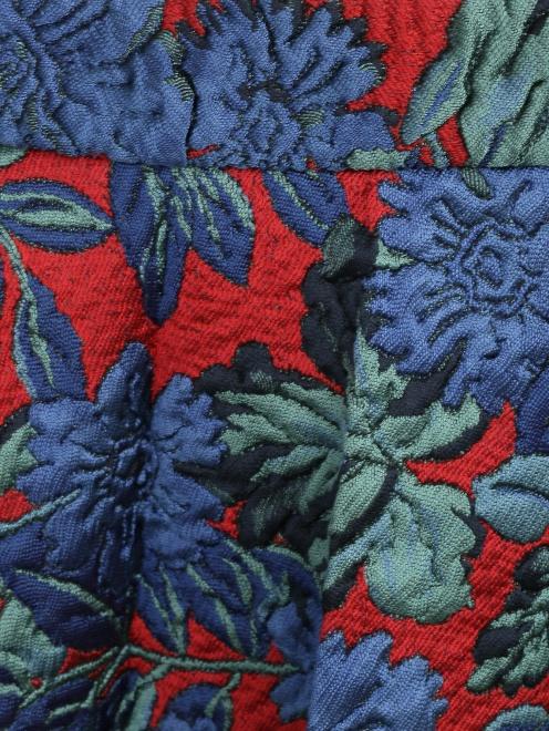 Юбка с фактурным цветочным узором - Деталь