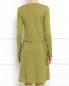 Платье-мини из шерсти и шелка с отделкой из кружева Alberta Ferretti  –  Модель Верх-Низ1