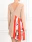 Платье ассиметричного кроя с контрастной вставкой MSGM  –  Модель Верх-Низ1