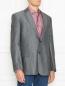 Пиджак из смеси шерсти и льна однобортный Boss  –  МодельВерхНиз