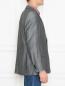 Пиджак из смеси шерсти и льна однобортный Boss  –  МодельВерхНиз2