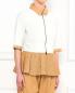 Блуза из кожи с перфорацией с рукавами 3/4 DROMe  –  Модель Верх-Низ