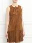 Платье из замши с бахромой Yves Salomon  –  Модель Верх-Низ