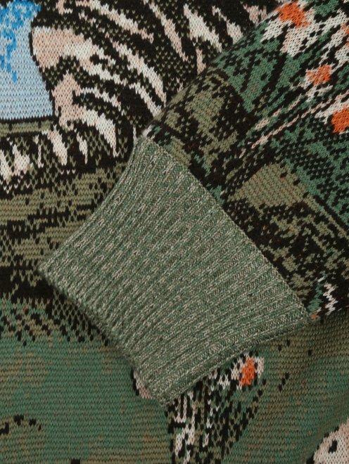 Джемпер из шерсти с узором - Деталь1
