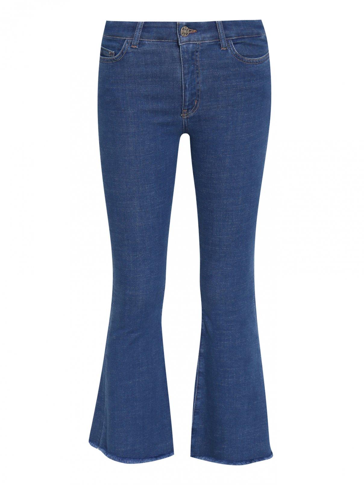 Расклешенные укороченные джинсы из эластичного денима M.i.h Jeans  –  Общий вид  – Цвет:  Синий