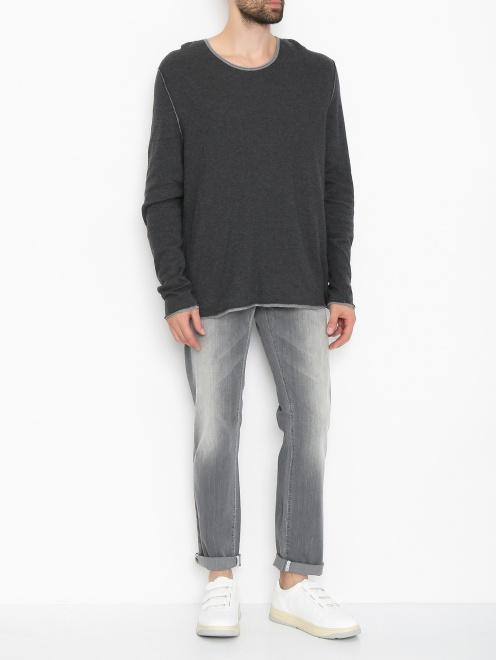 Джинсы из хлопка с карманами  - Общий вид