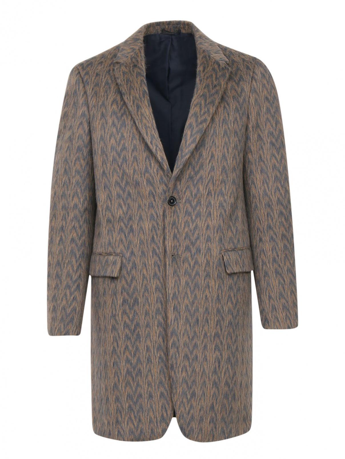 Пальто из шерсти с узором Jil Sander  –  Общий вид