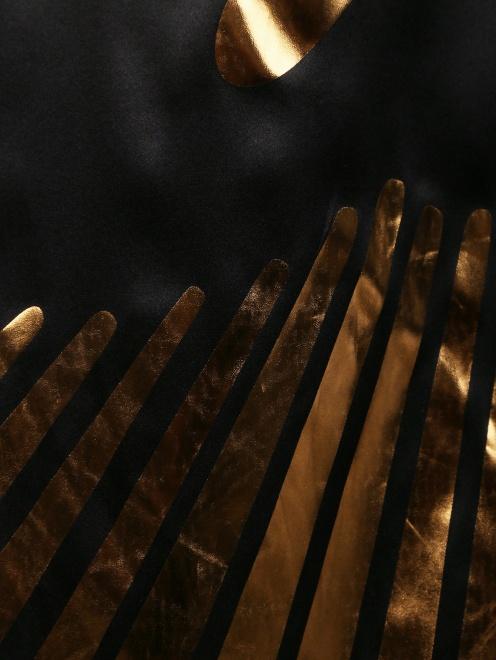 Асимметричное платье-мини из шелка с принтом - Деталь
