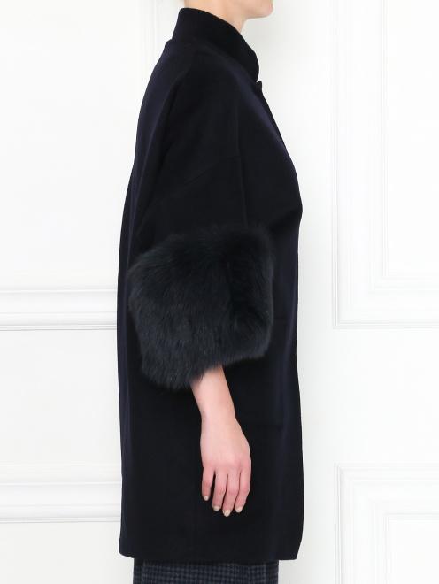 Пальто из шерсти с рукавами 3/4 - МодельВерхНиз2