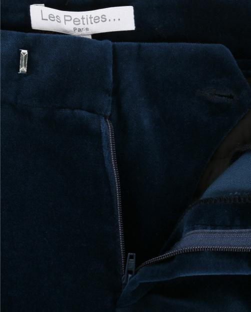Бархатные брюки-клеш с боковыми карманами  - Деталь