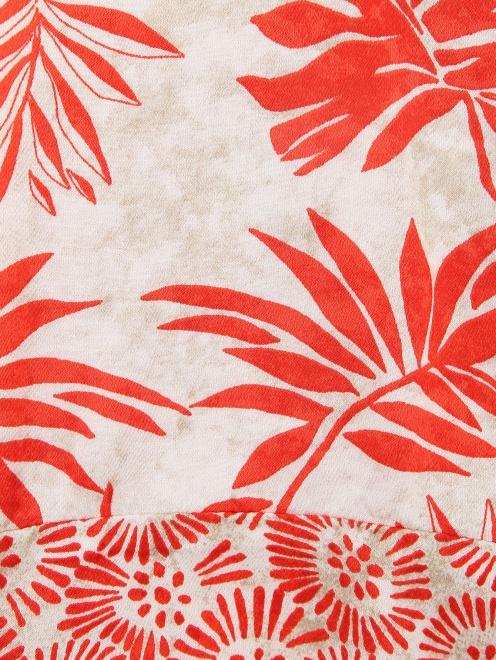 Блуза из ткани с принтом - Деталь