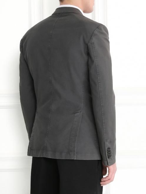 Пиджак однобортный из хлопка  - Модель Верх-Низ1