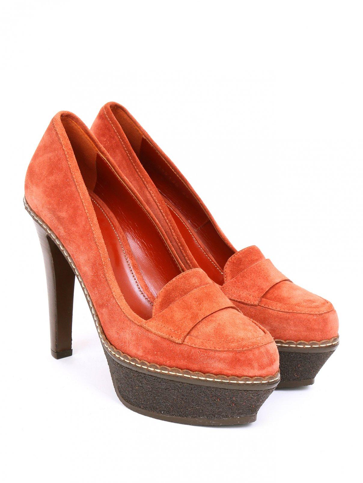Туфли из замши на высоком каблуке Sergio Rossi  –  Общий вид