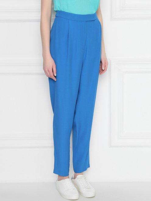 Укороченные брюки прямого кроя - МодельВерхНиз