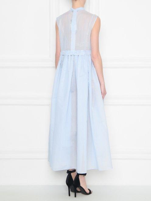 Платье из хлопка и шелка со складками - МодельВерхНиз1