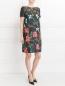 Платье из хлопка с цветочным узором и боковыми карманами Isola Marras  –  Модель Общий вид