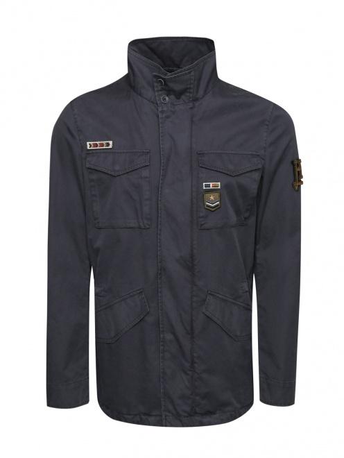 Куртка из хлопка, с накладными карманами  - Общий вид