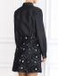 Платье-мини из хлопка и льна с вышивкой N21  –  Модель Верх-Низ1